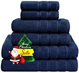 American Soft Linen 6-Piece 100% Turkish Genuine Cotton Premium & Luxury Towel Set for Bathroom &...
