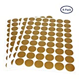 Gold Dots Wall Decals, Tearcam 216 PCS 4 Sheets Wall Stickers Removable Home Decoration Easy to Peel & Stick Painted Walls Metallic Polka Wall Decor for Nursery Bedroom (Gold Stars)