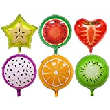 "12pcs 18"" Fruit Balloons Birthday Foil Balloon , Candy Color Helium Balloons , Party Wedding Supply"
