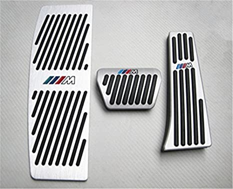 Ushopkins AT No Drilling Automatic Car Gas Brake Pedal Cover Accelerator Brake Foot Rest Pedals Covers For BMW New 5 6 7 Series X3 X4 Z4 Black