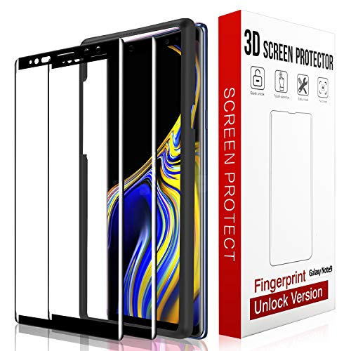 [2 Pack] QITAYO Screen Protector for Samsung Galaxy Note 9, [HD Clear] [Bubble-Free][Case Friendly] Tempered Glass Screen Protector Compatible with Samsung Galaxy Note 9