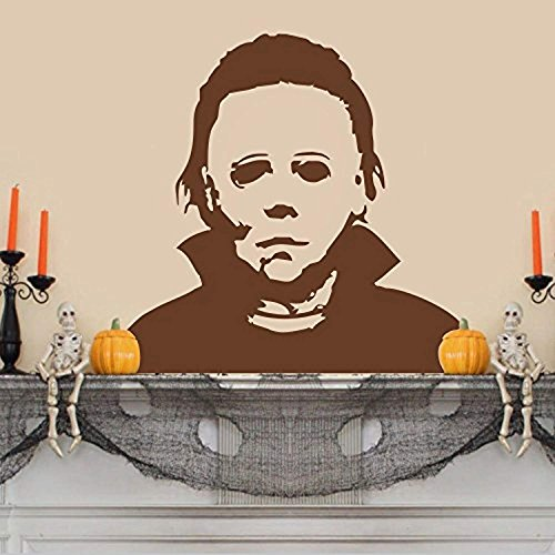 AmericanVinylDecor Vinyl Michael Myers Wall Sticker Halloween Wall Decal Horrific Wall Decor Wall Graphic Home Art Decoration
