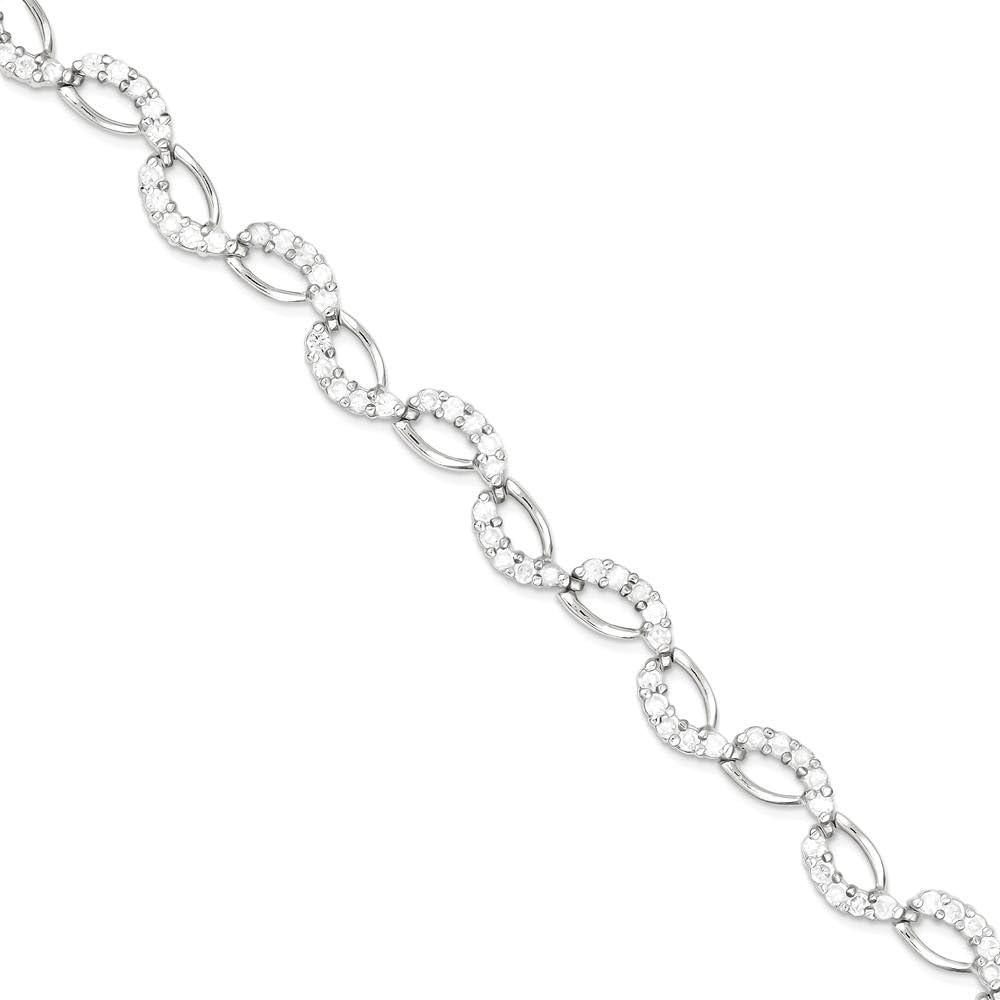 B007FN10A4 925 Sterling Silver Cubic Zirconia Cz Bracelet 7 Inch Fine Jewelry For Women Gifts For Her 51dRQzLxXLL.UL1000_