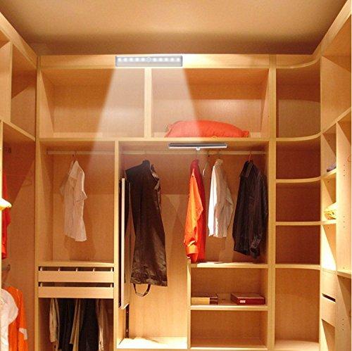 10 Led Motion Sensor Closet Cabinet Light Wall Night Lamp