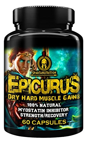 Epicurus, Dry Hard Muscle Gains, 100% Natural, Myostatin Inhibitor, Strength/Recovery by Sparta Nutrition - 60 Caps