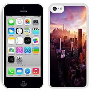 City Skyscrapers Landscape (2) Hard Plastic iPhone 5C Protective Phone Case
