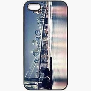 Protective Case Back Cover For iPhone 5 5S Case Bridge River Black