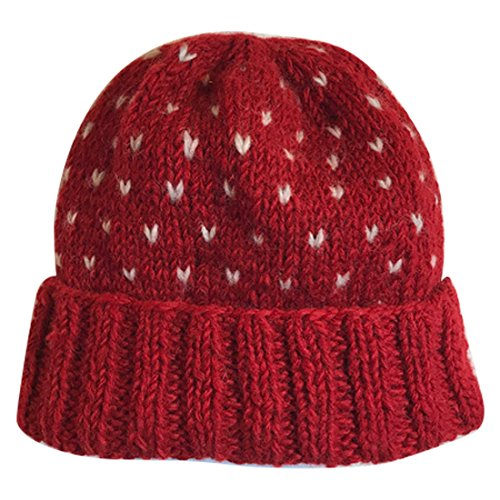 Wonderkul Sherpa Approved Nepal Knit Wool Hat (Red)