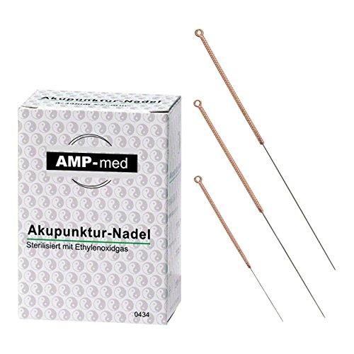 Akupunkturnadeln mit Kupfergriff, Akupunktur, Dauernadeln, 0,25x40 mm