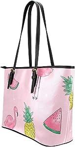 Amazon.com: Bolsas de mano de cuero suave y grande con asa ...