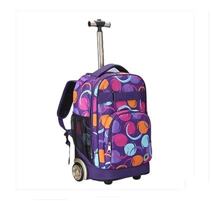Mochilas Escolares con Ruedas,Multifunción Impermeable Trolley Mochilas,Infantiles Maletas Y Bolsas De Viaje