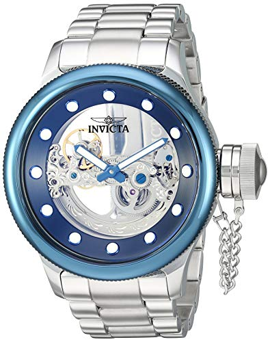 Invicta Men's Russian Diver Automatic-self-Wind Watch with Stainless-Steel Strap, Silver, 26.6 (Model: 26274) (Bridge Watch Automatic)
