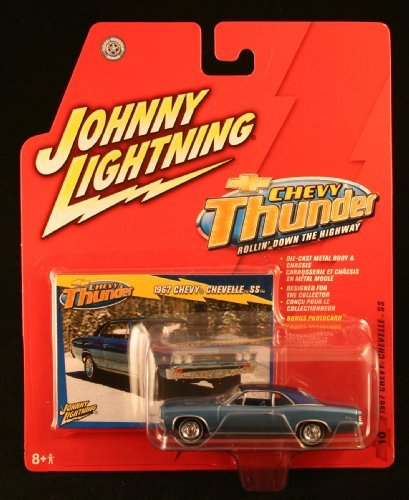 1967 CHEVY CHEVELLE SS * CHEVY THUNDER * 2005 Johnny Lightning Die-Cast Vehicle & Collector Trading Card