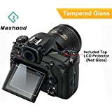 Maxhood D500 Nikon-Protezione schermo in vetro temperato, durezza 9H, ottico Ultra-sotttile, 0,3 mm, per fotocamera DSLR con tracolla, in vetro temperato, schermo LCD-Protezione per fotocamera digitale Nikon D500