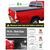 MaxMate Tri-Fold Truck Bed Tonneau Cover works with 2002-2018 Dodge Ram 1500; 2003-2018 Dodge Ram 2500 3500 | Fleetside 8' Bed | For models without Ram Box