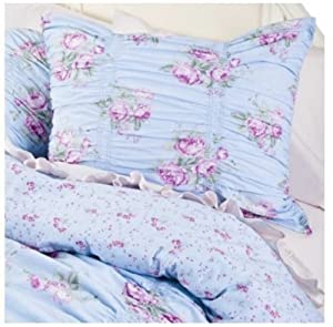 simply shabby chic ruched blue duvet cover set twin bedding ruffled sham set blue shabby chic bedding
