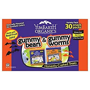 YumEarth Organics 30-pack Gummy Bears & Gummy Worms Snack Packs