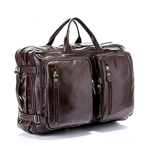 Genuine Leather Tote Briefcase Business Laptop Shoulder Messenger Bag Backpack Convertible Laptop (borse e valigie Zaini)