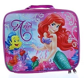 Amazon.com: Ariel la Sirenita Bolsa para la merienda – Lunch ...