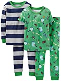 Carter's Baby Boys' 4 Piece PJ Set (Baby) - Bugs - 12 Months