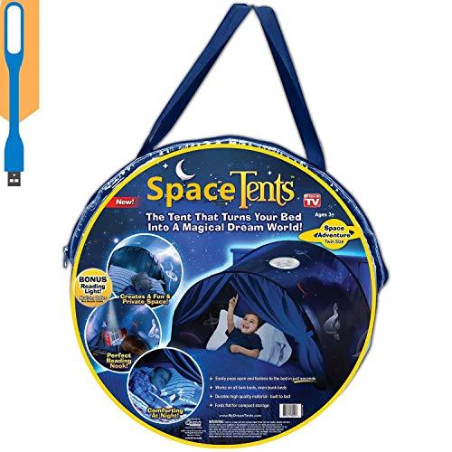 Tiendas de ensueno ,Carpas de ensueno, Magical World Carpa Impermeable Ensueno Wizard Children Play Cama Tienda Campana (Aventura Espacial)
