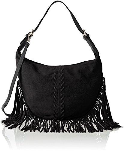 Chicca Borse 8630 - Bolso de hombro Mujer Negro (Black Black)
