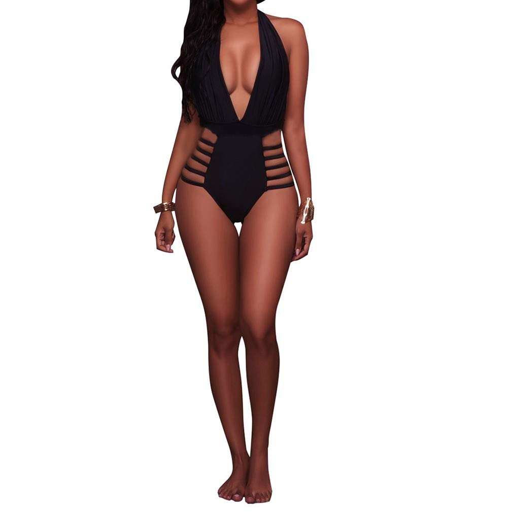 2e5502158e94a8 Kostenloser Versand QIYUN.Z Frauen Sexy Plain Color Badeanzug ...