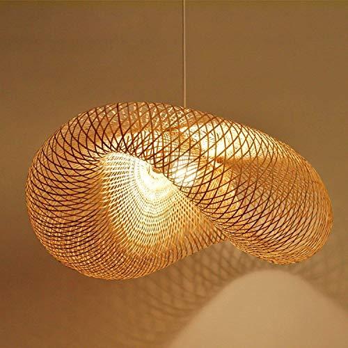 CQLHPL Suspension Leuchten Retro Style of Southeast Asian Bamboo Lamp Ceiling Lamp Tea Space Living Room Rattan Decoration Chandelier E27