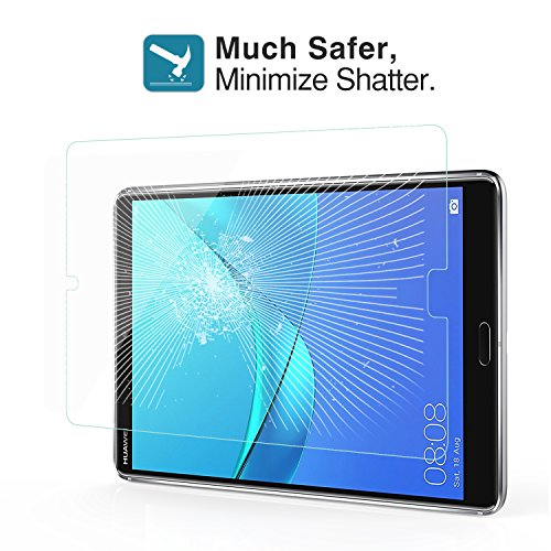 MoKo Huawei MediaPad M5 8.4 Protector de Pantalla, [Rasguño Terminator] Prima HD Claro 9H Dureza Protector de Pantalla de Cristal Templado para Huawei ...