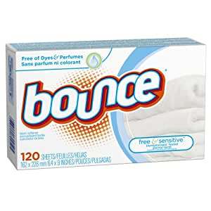 Bounce Free & Sensitive Fabric Softener Sheets 120 Count (Pack of 3)