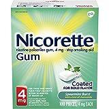 Nicorette Nicotene Gum Spearmint Flavor Coated 4 mg