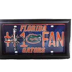 NCAA University of Florida Gators #1 Fan License Plate Wall Clock