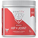 pawlife Hip and Joint Supplement for Dogs - 120 Natural Soft Chews formulated with Glucosamine, Chondroitin, MSM, and Organic Turmeric for Advanced Joint Support in Dogs of All Ages (Chicken)