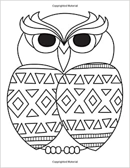Amazon.com: Blank Book Journal: Owl Zentangle Cover Diary Notebook ...