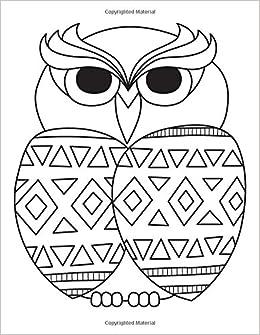 Amazon.com: Blank Book Journal: Owl Zentangle Cover Diary ...