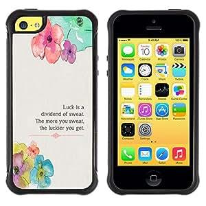 iKiki Tech / Estuche rígido - Floral Flower Spring Poem Message - Apple iPhone 5C