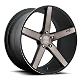 Niche Milan 19 Black Flake Wheel / Rim 5x4.5 with a 35mm Offset and a 72.6 Hub Bore. Partnumber M134198565+35