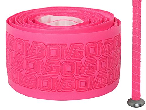 OMG – Oh My Grips – Premium Cushioned Hand Grip Wrap, Great for all Bats and Racquets; Baseball, Softball, Tennis, Badminton, Cricket, even Ping-Pong Paddles! (Pink)
