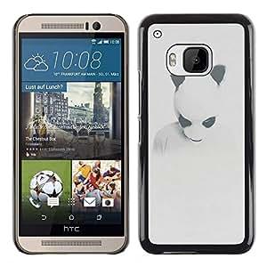 MOBMART Carcasa Funda Case Cover Armor Shell PARA HTC One M9 - Ice Bear Mask