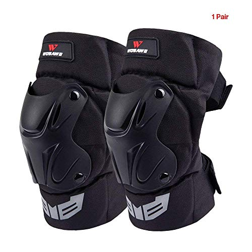 Lixada WOSAWE 1 Pair Cycling Knee Brace Bicycle MTB Bike Motorcycle Riding Knee Support Protective Pads Guards Outdoor Sports Cycling Knee Protector Gear