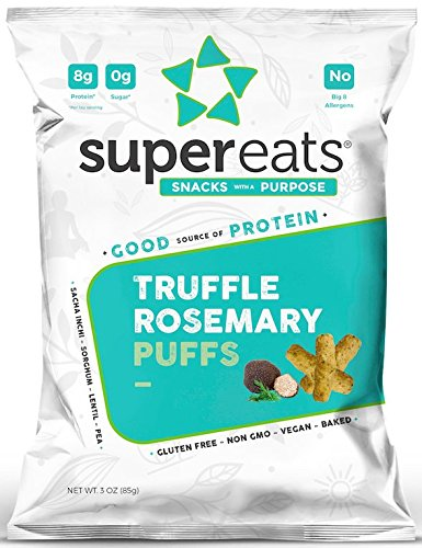 SuperEats High protein Puffs, Truffle Rosemary, 3 Ounce (Pack of 12)