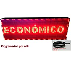 Cartel LED programable por WiFi y sonda de Temperatura ...
