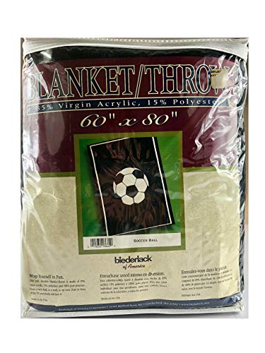 Biederlack Soccer Blanket/Throw (Reversible) 60