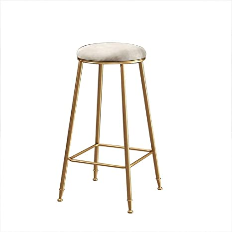 Surprising Amazon Com Simple Round Bar Stool Nordic Light Luxury Squirreltailoven Fun Painted Chair Ideas Images Squirreltailovenorg