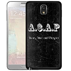 Always Strive and Prosper A$AP Quote Black and White Rap Music Hard Snap on Cell Phone Case Cover Samsung Galaxy Note 3 N9000