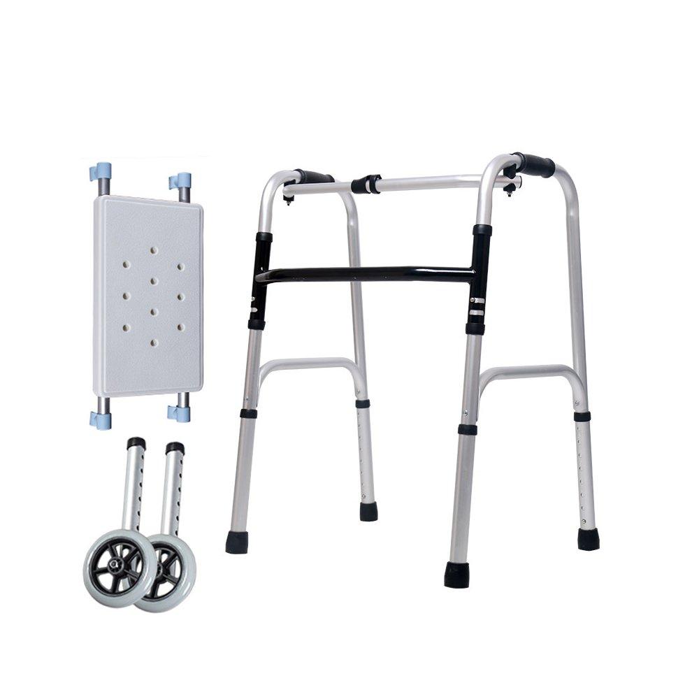 トイレシート 高齢者は歩く4つの脚を歩くスティックを歩く障害者用歩行補助金歩行援助車輪を持つ高齢者のバス椅子 (色 : D) B07D8CJJ4R D D