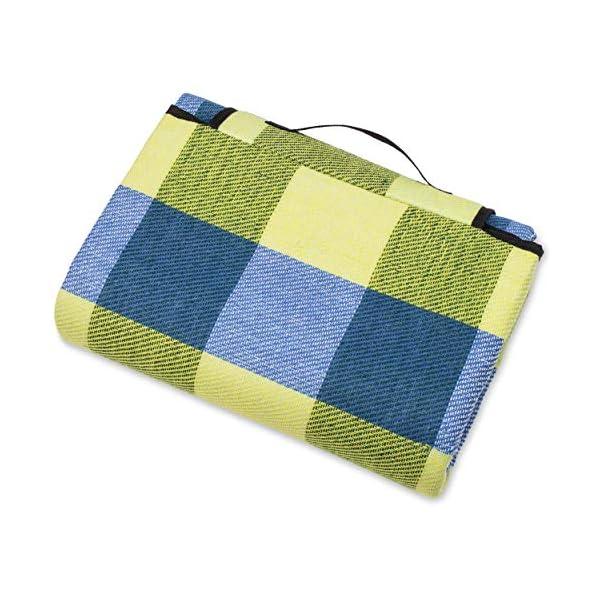 51FtA1bFM2L TRESKO XXL 195 x 150 cm Picknickdecke Acryl Wasserdicht | Campingdecke für Outdoor mit Tragegriff | Wärmeisoliert…