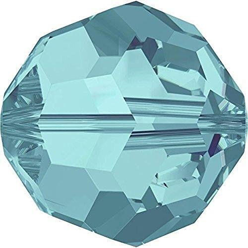 5000 Swarovski Crystal Beads Round Light Turquoise | 6mm - Pack of 20 | Small & Wholesale Packs ()