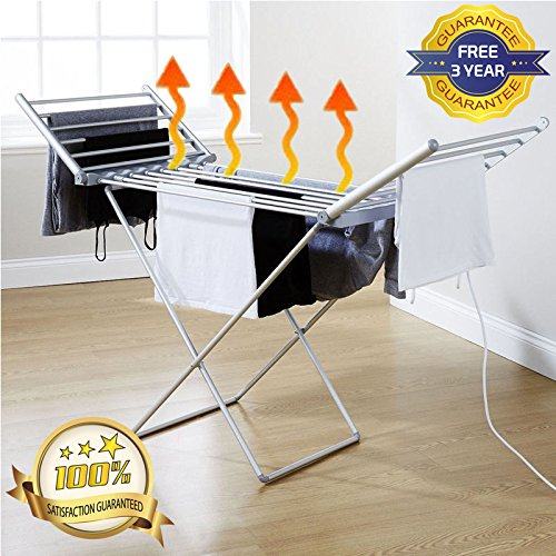 Electric Heated Indoor Folding Clothes Laundry Airer Dryer