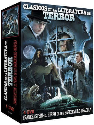 Classic Horror Literature Collection (3 Films) - 4-DVD Box Set ( Frankenstein / The Hound of the Baskervilles / Dracula ) [ Origine Espagnole, Sans Langue Francaise ] by